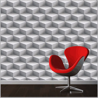 Wholesale Modern D Wallpapers Personalized Lattice D Wall Murals Vinyl Wallpaper Roll PVC Waterproof Background Wall Paper for Walls