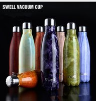 Wholesale 500ml Swell Sports Mug stainless steel cola bottle swell sports bottle Vacuum Flasks Thermoses sports cup cola bottle KKA964