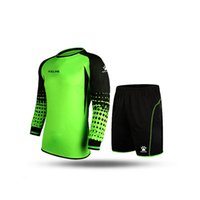 Wholesale Kelme K15Z209 Men Long Sleeve Tight Printing Wicking Super Stretch Competition Training Soccer Goalkeeper Suit Green Black