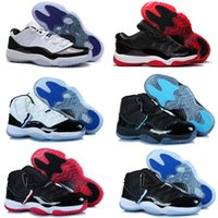 Wholesale with shoes Box NEW Retro III IV XI Space Jams Bred Gamma Blue Men Basketball Shoes Kids shoes SIZE US
