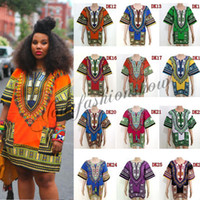 african clothes fashion - African Dashiki Dresses For Women Men African Clothes hip hop T Shirt Caftan Vintage Fashion Tribal Mexican Top Ethnic Clothing L264