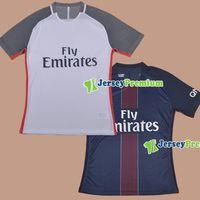 Wholesale 2016 Player Version Home Blue Away White Football Soccer Jerseys Shirt Lucas Cavani Matuidi Lavezzi Silva Rabiot Motta Verratti Pastore