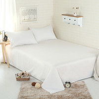 Wholesale 2016 Fahion Luxury Cotton Bed Sheets King Queen Twin Full Size sabanas Solid Hotel Bed Sheet Bedding Sheets