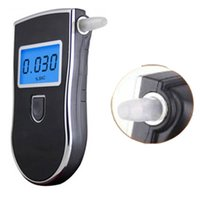 Wholesale Professional Backlight Digital LCD Breath Alcohol Tester Police Portable Alcohol Tester Breathalyser Parking Detector Gadget