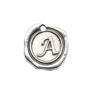 achat en gros de charmes initiales vente-Hot Sale Alloy Initial Charms Alliage Alphabet A Charms Charms Lettre Vintage Vente en gros 50pcs AAC177-A