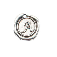 Wholesale Hot Sale Alloy Initial Charms Alloy Alphabet A Charms Vintage Letter Charms AAC177 A