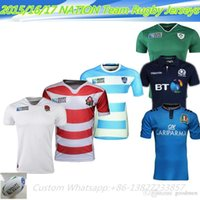Wholesale NEW Zealand Rugby Jersey shirt Italy England Argentina Scotland Japan Champions cup blue white black S XXL rugby jerseys