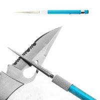 al por mayor lápiz profesional-Herramientas de DMD Afilador de cuchillo profesional Pen Stylus Afilador de diamante Afiladores de cuchillo de diamante de bolsillo Afilador de cincel Grindstone Fishing Tool