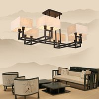 art styles lanterns - Chinese wind of new Chinese style lamps and lanterns antique bedroom cloth art Chinese style droplight sitting room lamp wrought iron ch