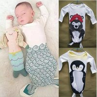 Wholesale INS boy girls baby sleeping bag Bear mermaid shark Little Red Riding Hood Penguin baby sleeping baby sleeping bag anti Tipi