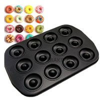 baked donuts - Mini Carbon Steel Non stick Coating Cake Donuts Nonstick Pan Hollow Evens Cup Donut Baking Mold Mould