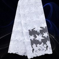 Wholesale Fashion African Tulle Lace Fabric Newest French Nigeria Lace Fabric with Stone