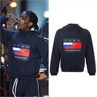 Wholesale 2016 new streetwear Gosha Rubchinskiy classic Flag print asap rocky Cotton Sweatshirts Pullover Hoodies casual clothing