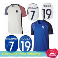 france - New France Euro francia de Foot Soccer Jersey Maillot france white blue Pogba BENZEMA Football Shirt Futbol Shirt