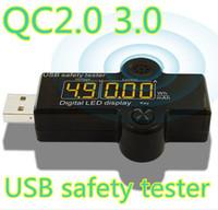 battery powered alarm - QC2 High voltage V USB Charger Alarm device Doctor Mobile Battery Tester Power Detector Voltage LED Current Meter
