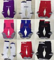 ac cotton - 2016 Chelsea Real Madrid AC Milan socks Kids socks children boys youth socks Football Soccer Sport Above Knee Tube socks thai quality
