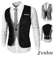 Wholesale Young urban men s fashion new fall and winter clothes hit color fake two business casual suit vest vest