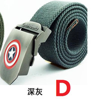 active transportation - Hot Captain America man general canvas belt leisure canvas belt jeans belt thickening extended free transportation