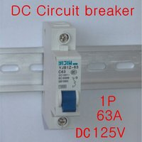 Wholesale 20PCS P A DC125V Circuit breaker MCB For PV Solar system CE YJBz1 Ship by Fedex OR DHL