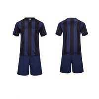 athletic team clothing - 2016 Boys vertical bar Sports wear Athletic Jogging Clothing Kits Kids Running sets Soccer team football Jersey and shorts Children year