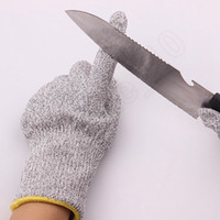 Wholesale Safety Cut resistant Work Protective Butcher Anti Abrasion Protect Stainless Steel Wire Safety Gloves Kitchen Safety Tool LJJQ289