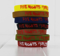 Wholesale Five Nights at Freddy s Colorfull Silicone Wristband for kids gift Five Nights at Freddys set