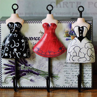 Wholesale High Quality color coat hooks Kitchen Bathroom Decor Wall Vintage Style Metal coat hook bag clothes hanging