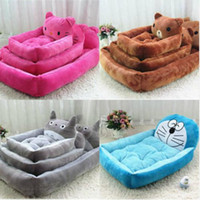 accessories canopy - Cartoon pet dog bed house flannel kennel cat litter Dog Beds Mats Pet Supplies Dog mat Four Models cm