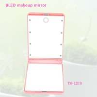 advertisement mirror - 8 LED Touch Screen Sensor Lighted Makeup Mirror Cheap Promotion Gift Advertisement products
