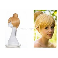 bell wig - Princess tinkerbell hair anime wig short blonde cosplay wig fairy Tinker Bell wig heat resistant synthetic wigs oblique bangs
