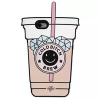 apple smoothies - Newest D Cartoon Coffee Smoothies Ice Cases Silicone Rubber Soft Back Cover Case for iPhone Plus S Plus Cute Lovely Skin