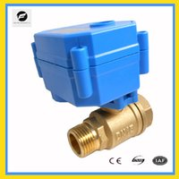 Wholesale CWX S DN15 brass way motorized ball valve DC3 v CR05 five wires electric ball valve with feedback signal manual override function