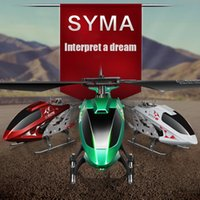 Cheap SYMA S107E RC helicopter model 3 Channel alloy remote control helicopter UAV LED toys Free shipping
