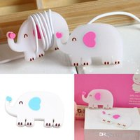 Wholesale Elephant Earphone Holder Cable Wire Cord Organizer Winder For Mp3 Headphone Color Random PA