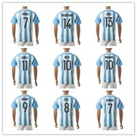Wholesale Customized Argentina Soccer Jersey Home Away rd soccer jersey messi jersey stripe Mix Order Drop Shipping Accepted