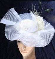 artificial feathers flowers - Elegant Artificial Flower Feather Gauze Handmade Hats Outdoor Wedding Bridal Hats Flower Gauze Daily Hats Gifts For Ladies Girls