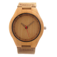 bamboo wood products - New Hot Sale Wood Watch Men Japanese Movement Bamboo Wooden Watches with Genuine Leather New Wood Products for Gifts