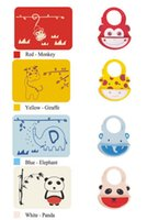 Wholesale New Baby Meal Mat Silicone Placemat With Feeding Pocket Set Cartoon Animal Type