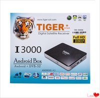 best media receiver - Best Selling cable Set Top Box Price Tiger I3000 Amlogic S805 Android Network Media Player air box Arabic Satellite Receiver