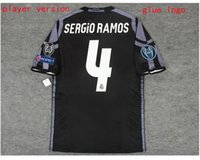 Wholesale 16 madrid player version soccer shirt ronaldo bale benzema MODRIC home and away player version football shirt with champion league patch