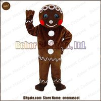 Wholesale Gingerbread Man mascot costume cheap high quality carnival party Fancy plush walking gingerbread Man mascot adult size