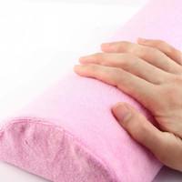 Wholesale 1pc Hot New Pink Half Hand Cushion Rest Pillow Nail Art Design Manicure Care Salon Soft Column NJ