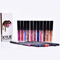 Wholesale Hot Kylie Lip Gloss Lipstick Boxset Lipstick Lipliner Kylie Jenner Matte Lipstick colors Avaialable now OTH261