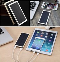 Wholesale IPhone Portable solar charger mAh power bank outdoor solar panel mobile batteries USB power source for mobile ipad camera gps