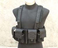 bear magazines - TMC K Load Bearing M14 SR25 Magazine Chest Rig Swat Black Vest for Airsoft Paintball