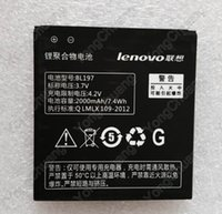Cheap atteries Mobile Phone Batteries Lenovo A800 Battery BL197 Original 2000mAh Backup Battery A820 A820T S720 S720i A798T S889T S868T S899T S...