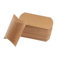 Wholesale 100pcs Pillow Shape Favor Gift Box Wedding Party Gift Boxes Paper Candy Box Bags Supply Wedding Favor Decor x13x3 cm