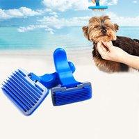 Wholesale Newly Pet Dog Comb Cat Hair Shedding Grooming Tool Shower Brush Puppy Massage Comb Rake Soft Pin Plastic Mascotas Cleaning Brush JJ0055