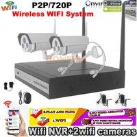 Wholesale NEW Plug and Play Wifi NVR System P Wireless WIFI Network IP CCTV Security Camera Night vision ONVIF WIFI Surveillance Kit