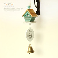 bamboo wood chimes - Rustic lovely resin hangings wood tag bell tieyi wind chimes hangings